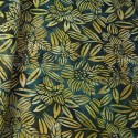 100% Cotton fabric Batik Bali Rain Forest Plants Swirling Palm Leaves Fabric Freedom BK144 Col. H