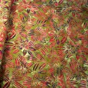 100% Cotton fabric Batik Bali Rain Forest Plants Swirling Palm Leaves Fabric Freedom BK144 Col. G