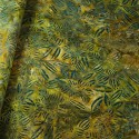 100% Cotton fabric Batik Bali Rain Forest Plants Swirling Palm Leaves Fabric Freedom BK144 Col. J