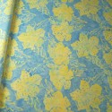 100% Cotton fabric Batik Bali Pastel Hibiscus Collection Palm Leaves Fabric Freedom BK145 Col. C