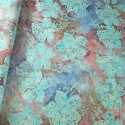 100% Cotton fabric Batik Bali Pastel Hibiscus Collection Palm Leaves Fabric Freedom BK145 Col. I