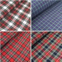 100% Brushed Cotton Fabric Tartan Wincyette Flannel Material