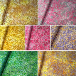 100% Cotton fabric Batik Bali Obscure Floating Shapes Fabric Freedom BK140