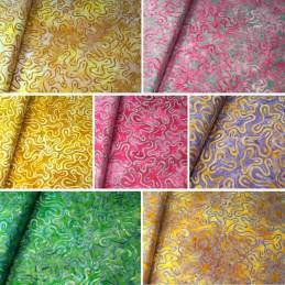 100% Cotton fabric Batik Bali Obscure Floating Shapes Fabric Freedom BK140