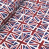 Union Jack Cotton Fabric Flags UK British 135cms Wide