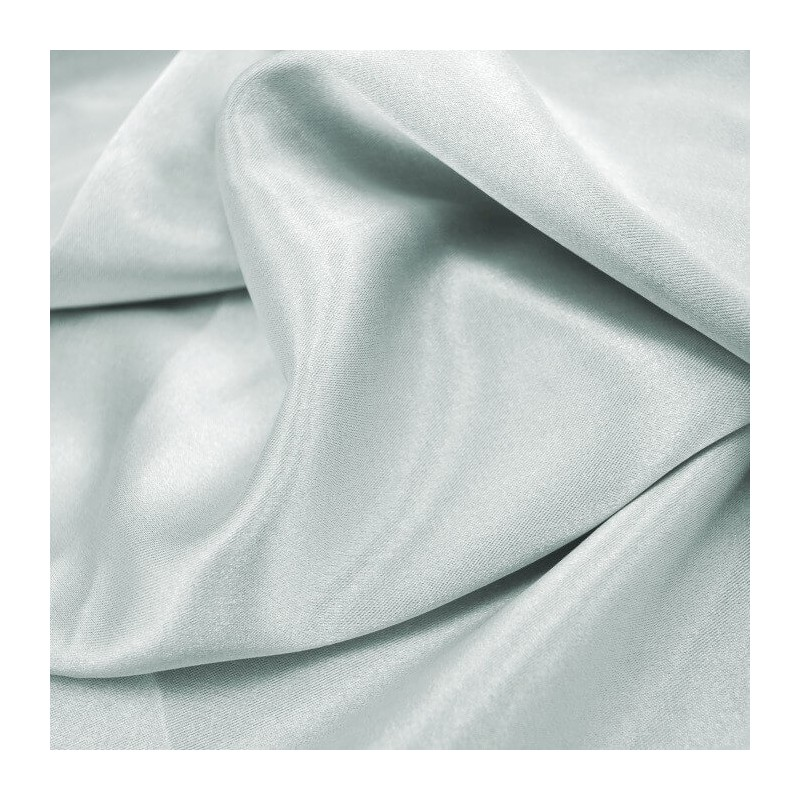Silver Plain Stretch Satin Fabric Material Polyester Spandex Mix