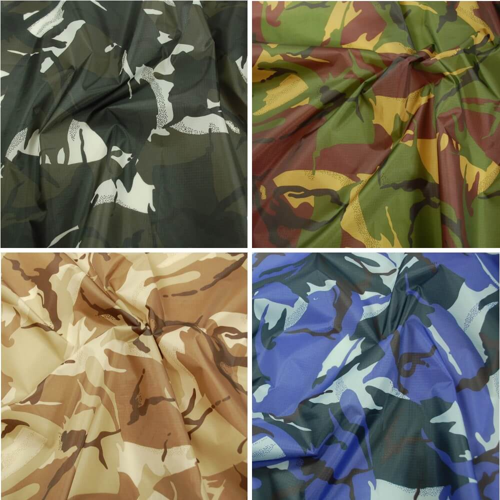 Urban Camo Ripstop Fabric Army Military Camouflage