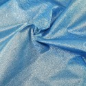 100% Cotton Glitter Sparkle Spangle Crystal Stardust Shimmer Fabric Blue