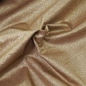 100% Cotton Glitter Sparkle Spangle Crystal Stardust Shimmer Fabric Coffee