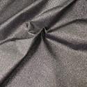 100% Cotton Glitter Sparkle Spangle Crystal Stardust Shimmer Fabric Black