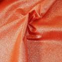 100% Cotton Glitter Sparkle Spangle Crystal Stardust Shimmer Fabric Orange
