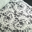 100% Polyester Corded Lace Fabric Bridal Wedding Flower Girl 150cm Col. 1 White