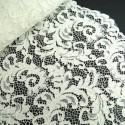 100% Polyester Corded Lace Fabric Bridal Wedding Flower Girl 150cm Col. 2 Ivory