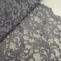 100% Polyester Corded Lace Fabric Bridal Wedding Flower Girl 150cm Col. 3 Dark Grey