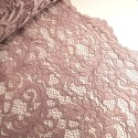 100% Polyester Corded Lace Fabric Bridal Wedding Flower Girl 150cm Col. 4 Dusky Pink