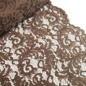 100% Polyester Corded Lace Fabric Bridal Wedding Flower Girl 150cm Col. 7 Light Brown