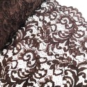 100% Polyester Corded Lace Fabric Bridal Wedding Flower Girl 150cm Col. 8 Dark Brown