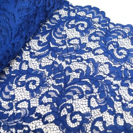 100% Polyester Corded Lace Fabric Bridal Wedding Flower Girl 150cm Col. 10 Royal