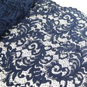 100% Polyester Corded Lace Fabric Bridal Wedding Flower Girl 150cm Col. 11 Navy