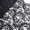 100% Polyester Corded Lace Fabric Bridal Wedding Flower Girl 150cm Col. 12 Black