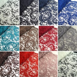 100% Polyester Corded Lace Fabric Bridal Wedding Flower Girl 150cm