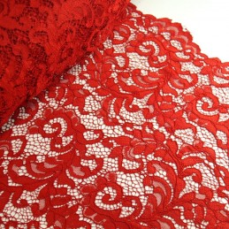 100% Polyester Corded Lace Fabric Bridal Wedding Flower Girl 150cm Col. 5 Red