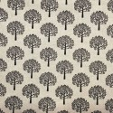 Cotton Rich Linen Fabric Curtain & Upholstery Black Mulberry Trees
