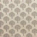Cotton Rich Linen Fabric Curtain & Upholstery Wildlife Grey Mulberry Trees