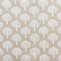 Cotton Rich Linen Fabric Curtain & Upholstery White Mulberry Trees