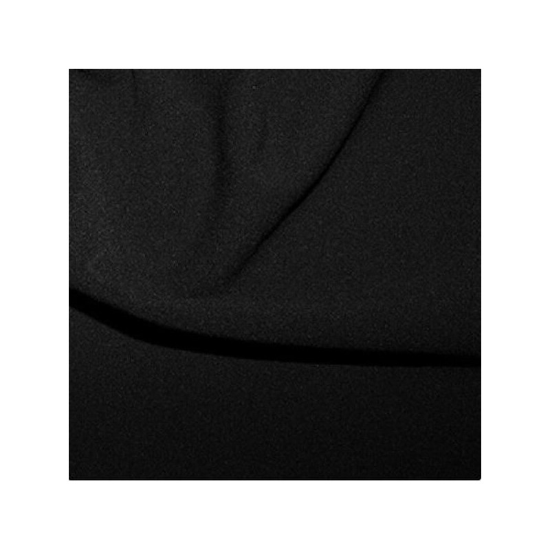 Black Scuba Crepe Fabric Stretch Jersey Spandex Material