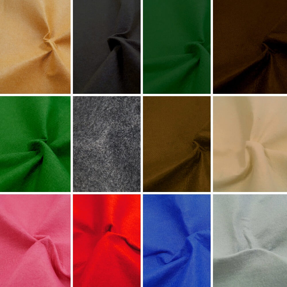 Black 100% Polyester Craft Felt Fabric Material 100cm Wide 1mm Thick