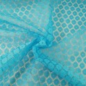 Turquoise Dutch Lace Floral Flower 100% Polyester Fabric Bridal Dress Lace