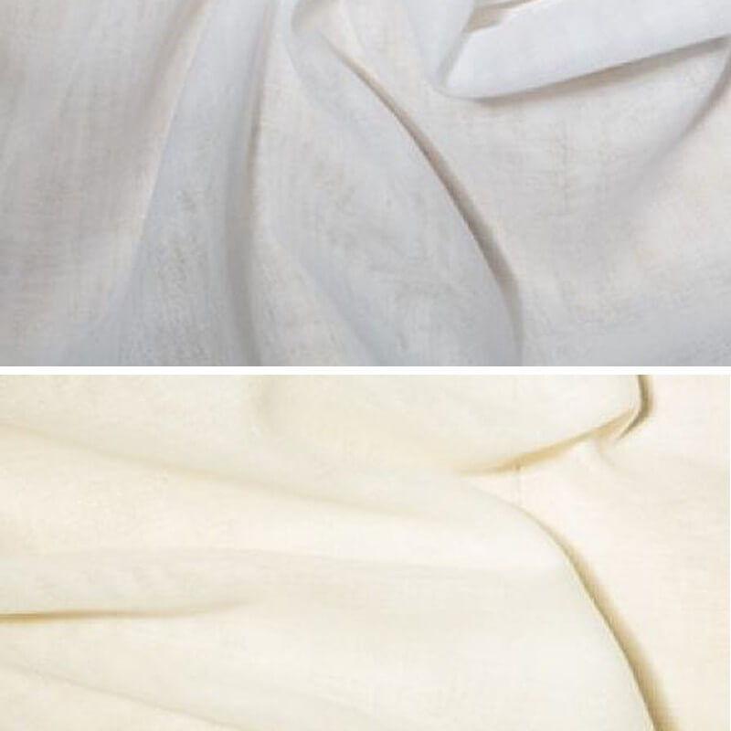 Cream Egyptian Muslin Fabric 100% Cotton