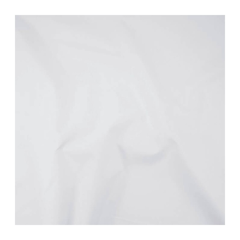 White 3 Pass Thermal Blackout Curtain Lining Fabric