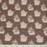 Pirate Matey's Pirate Ship 100% Cotton Fabric