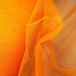 Dress Net Tutu Mesh Tulle Fancy Fairy Bridal Petticoat Material Fabric Orange Pepper