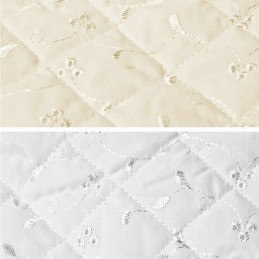 Quilted 112cm Wide Broderie Anglais 3 Hole Fabric