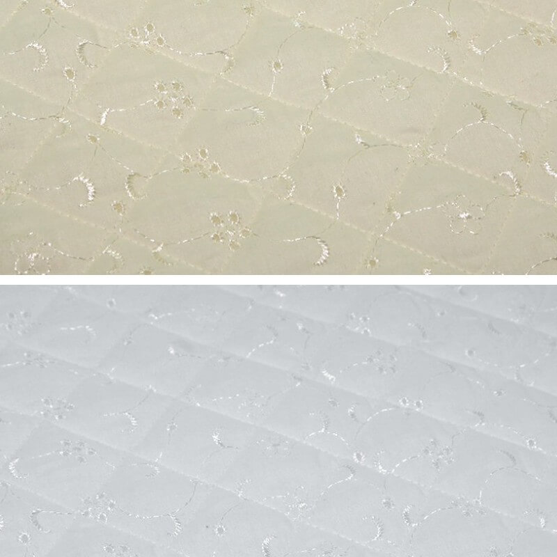 White Quilted 112cm Wide Broderie Anglais 5 Hole Fabric