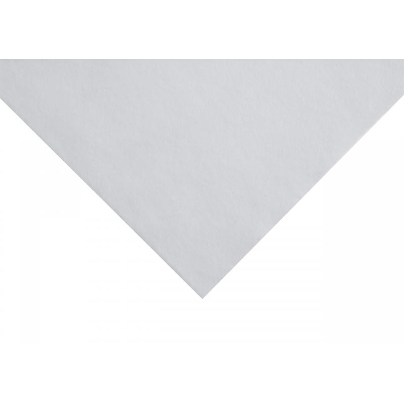 White Sticky Back Acrylic Felt Fabric 23cm x 30cm