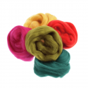 Assorted Browns Natural Wool Roving 50gm Craft Sewing Spinning Fabric As2 Assorted Brights