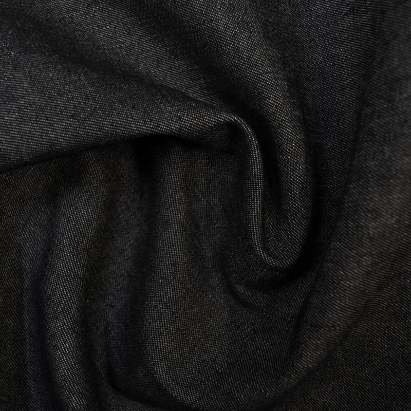 Black 100% Cotton Denim Fabric 7.5oz 283gsm