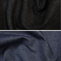 100% Cotton Denim Fabric 7.5oz 283gsm Indigo or Black