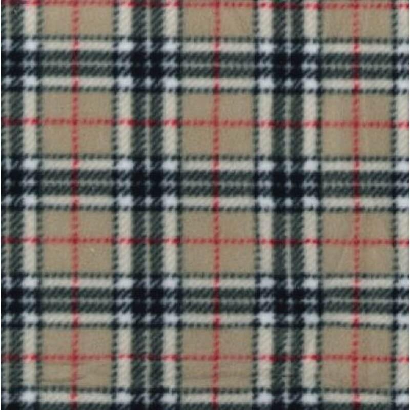 Caramel Thompson Tartan Fleece Polar Anti Pil Fabric