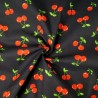 Polycotton Fabric Cherries Cherry Summer Feel Dress