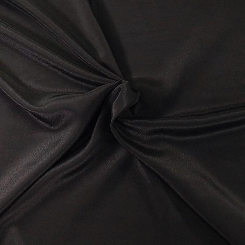 Plain Coloured Koshibo Crepe Fabric Black