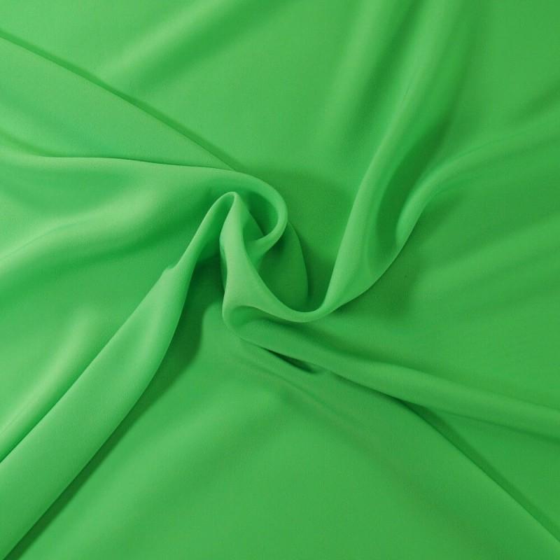 Plain Coloured Koshibo Crepe Fabric Green