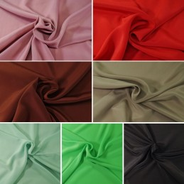 100% Polyester Plain Coloured Koshibo Crepe Fabric Dressmaking