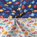 Finding Freedom Fishes Aquatic Sealife Polycotton Fabric