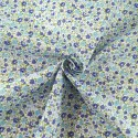 Samantha's Sweet Floral Garden Flowers and Blooms Polycotton Fabric Blue
