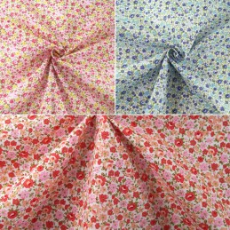 Polycotton Fabric Samantha's Sweet Floral Garden Flowers and Blooms